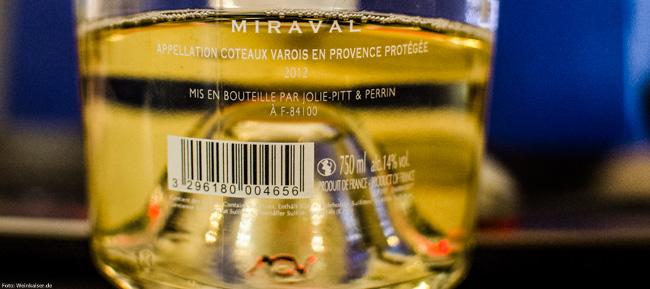 Jolie-Pitt & Perrin Miraval Blanc Coteaux Varois en Provence