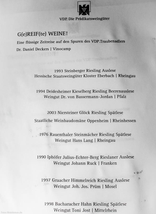 Deutsche Weingeschichte mit Dr. Daniel Deckers.