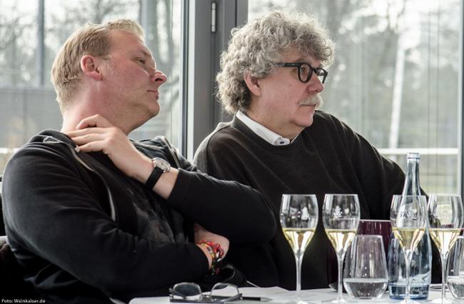 Dirk Würtz und Martin Kössler bei der La Carafe Präsentation.