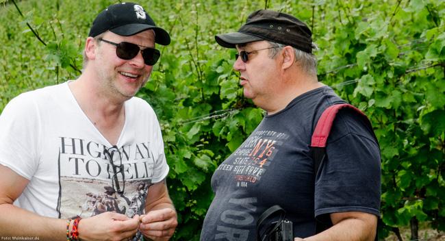 Die beiden Gründer des Vinocamp Deutschland: Dirk Würtz und Thomas Lippert