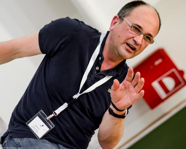 Spitzenwinzer Andreas Barth auf dem Vinocamp Deutschland 2015