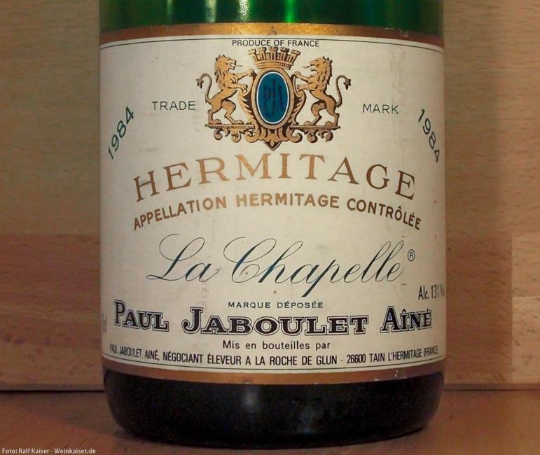 Hermitage La Chapelle 1984 Etikett