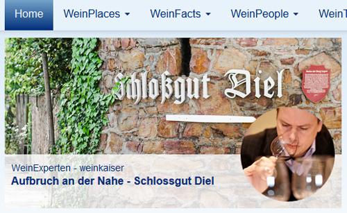 Weinkaiser-Beitrag über das Schlossgut Diel