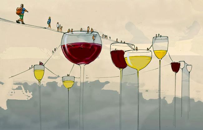 Weinrallye (Illustration: Florian Steffens)